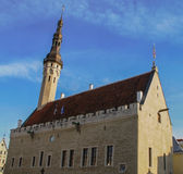 Town hall square. Tallinn's old town, Estonia, spring Royalty Free Stock Image