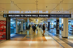 Town Hall Square underground entrance from Townhall railway station Stock Images