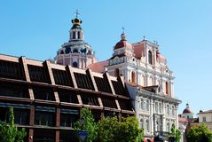 The Town Hall Square in Vilnius city Royalty Free Stock Image
