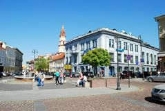 The Town Hall Square in Vilnius city Royalty Free Stock Images