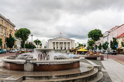 Town Hall Square, Vilnius Stock Photos
