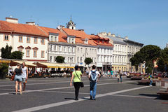 The Town Hall Square in Vilnius, Lithuania. Royalty Free Stock Images