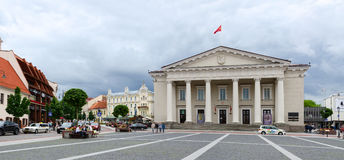 Town Hall Square, Vilnius, Lithuania Royalty Free Stock Images