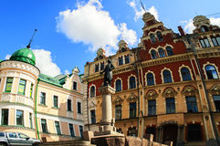 Town Hall Square in Vyborg Royalty Free Stock Images