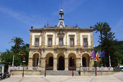 Town hall. In a sunny day Royalty Free Stock Photo