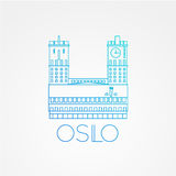 Town hall The symbol of Oslo, Norway. Royalty Free Stock Images