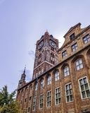 Town Hall in Torun is one of the largest brick buildings of that kind in Europe - Torun. Poland royalty free stock photos