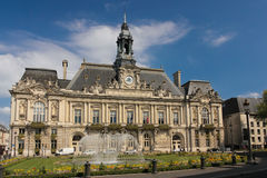 Town Hall. Tours. France Stock Photography