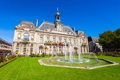 Town hall in Tours, France royalty free stock photos