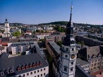 Town hall tower in Gera aerial view architecture thuringia Stock Photography