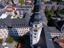 Town hall tower in Gera aerial view architecture thuringia Stock Image