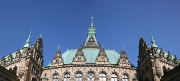 Town hall tower of Hamburg Royalty Free Stock Photos