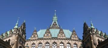 Town hall tower of Hamburg Royalty Free Stock Photos