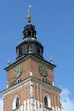 Town Hall Tower in Krakow, Poland Royalty Free Stock Photos