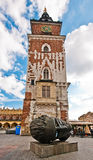 Town Hall Tower on Krakow's Main City Square Royalty Free Stock Images