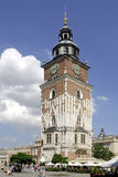 Town Hall Tower in Krakow Royalty Free Stock Images