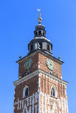 Town hall tower on main market square , Krakow, Poland Royalty Free Stock Image
