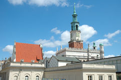 Town Hall tower on marketplace in Poznan Stock Photography