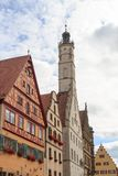 Town hall tower of medieval town Rothenburg ob der Tauber. Germany Stock Photography