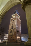 Town Hall Tower viewed from Cloth Hall Stock Photography