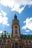 Town Hall in the town square in Hamburg in Germany Stock Image