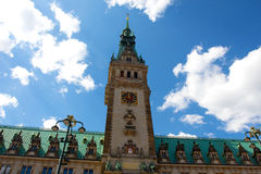 Town Hall in town square in Hamburg in Germany Stock Photography