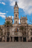 Town Hall of Valencia Stock Images