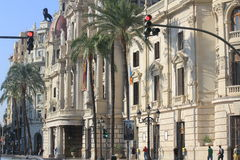 Town Hall in Valencia Stock Photography