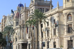 Town Hall in Valencia Stock Photo