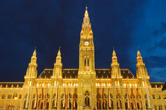 Town hall in Vienna Stock Photo