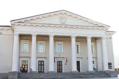 Historic Town Hall in the Old Town of Vilnius, Lithuania royalty free stock image