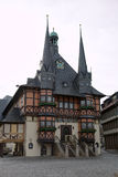 Town hall of Wernigerode, Germany. View of Town hall of Wernigerode, Germany Royalty Free Stock Photos