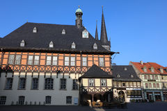 Town Hall in Wernigerode Stock Image