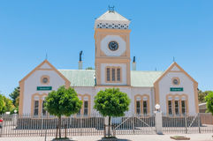 Town Hall in Willowmore, South Africa. WILLOWMORE, SOUTH AFRICA - JANUARY 6, 2015: The historic Town Hall in the Little Karoo town of Willowmore stock image