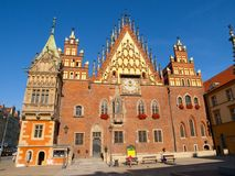 Town Hall in Wroclaw Royalty Free Stock Images