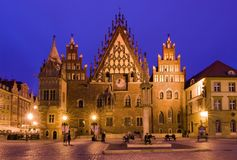 Town Hall, Wroclaw in Poland Stock Image