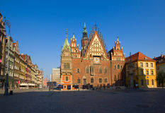 Town hall of Wroclaw, Poland Stock Images