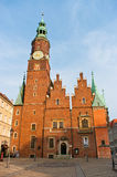 Town hall in Wroclaw, Poland Royalty Free Stock Photography
