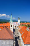 Town hall in Zagreb. Aerial view of town hall in Zagreb Royalty Free Stock Images
