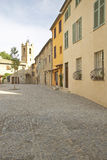 Town of Haut de Cagnes, looking towards Church of St. Pierre, France Stock Image