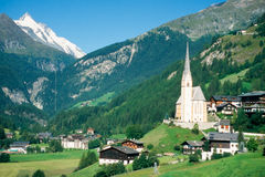Town of Heiligenblut and Grossglockner in Austria Royalty Free Stock Photo
