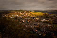 Town on hill countryside Royalty Free Stock Photography