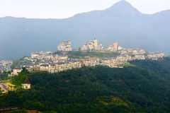 The town on the hill. The photo was taken in Grand Canyon scenic spot Shenzhen city Guangdong province, China Stock Image