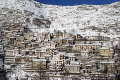 Town hillside in the Alps royalty free stock images