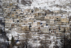 Town hillside in the Alps Stock Image