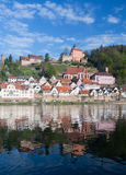 Town of Hirschhorn Hesse Germany Stock Photography