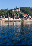 Town of Hirschhorn Hesse Germany Royalty Free Stock Photography