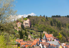 Town of Hirschhorn Hesse Germany Royalty Free Stock Photos