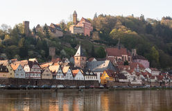 Town of Hirschhorn Hesse Germany Stock Photo
