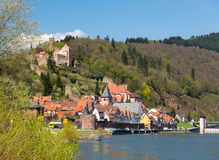 Town of Hirschhorn Hesse Germany Royalty Free Stock Photo